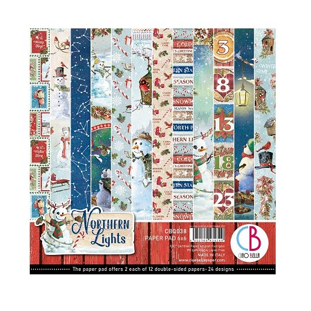 "Ciao Bella - Northern Lights Collection - 6""x6"" Patterns Paper Pad"
