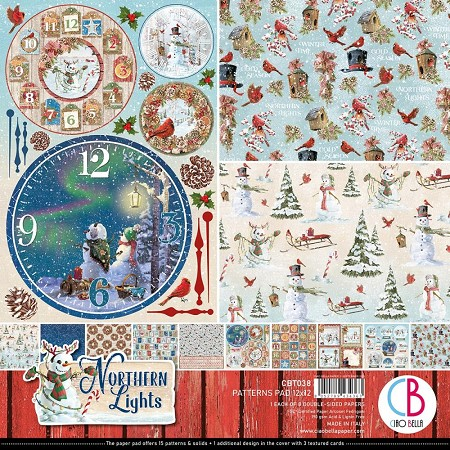 Ciao Bella - Northern Lights Collection - Coordinating Patterns Paper Kit