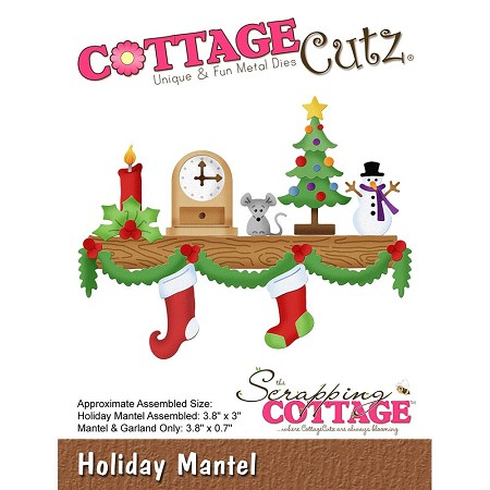 Cottage Cutz - Die - Holiday Mantel