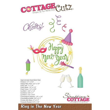 Cottage Cutz - Die - Ring In The New Year