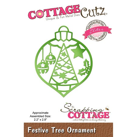 Cottage Cutz - Die - Festive Tree Ornament  (Elite)