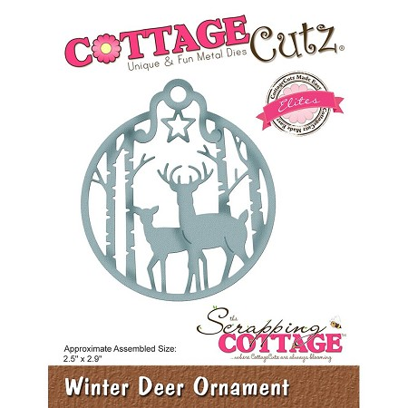 Cottage Cutz - Die - Winter Deer Ornament (Elite)