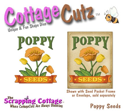 Cottage Cutz-4x4 Dies-Poppy Seeds