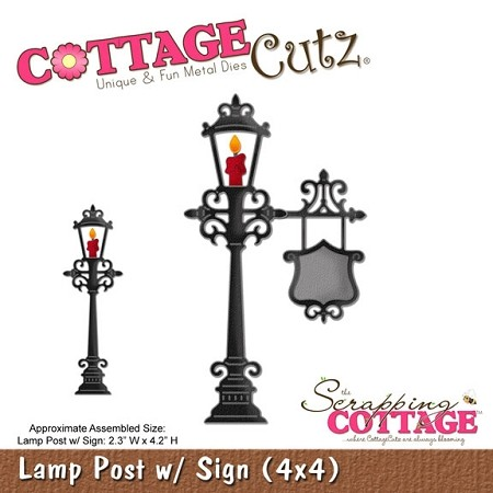 Cottage Cutz-Die-Lamp Post w/Sign