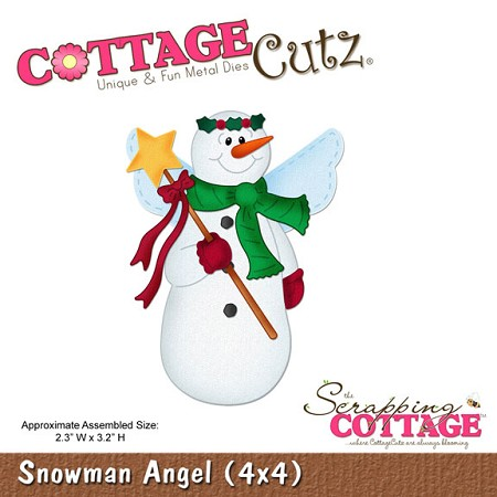 Cottage Cutz-Die-Snowman Angel