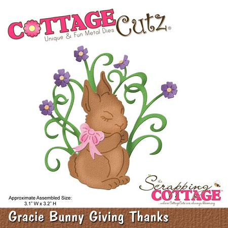 Cottage Cutz - Die - Gracie Bunny Giving Thanks (4x4)