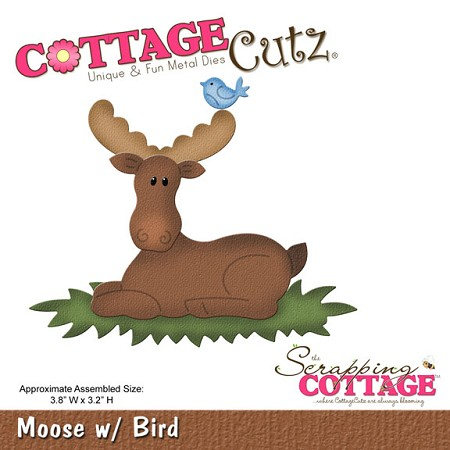 Cottage Cutz - Die - Moose w/ Bird