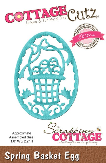 Cottage Cutz - Die - Spring Basket Egg (Elites)