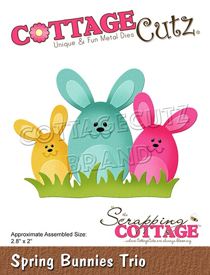 Cottage Cutz - Die - Spring Bunnies Trio