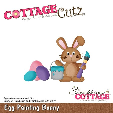 Cottage Cutz - Die - Egg Painting Bunny