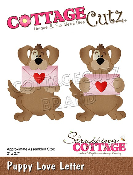 Cottage Cutz - Die - Puppy Love Letter