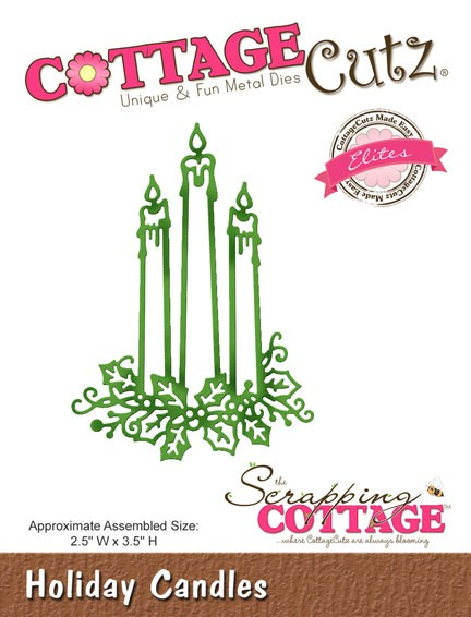 Cottage Cutz - Die - Holiday Candles (Elites)