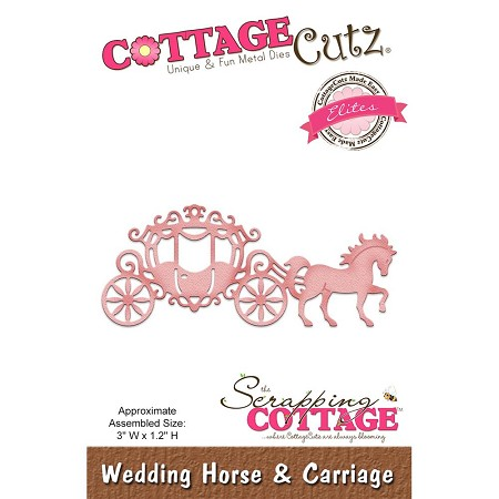 Cottage Cutz - Die - Wedding Horse & Carriage
