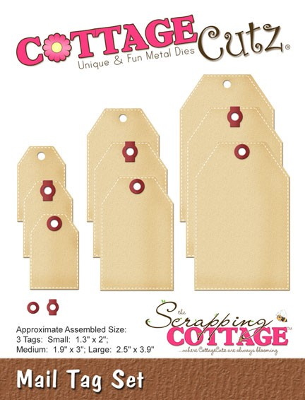 Cottage Cutz - Die - Mail Tag Set