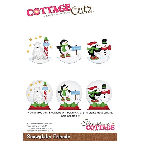 Cottage Cutz - Die - Snowglobe Friends