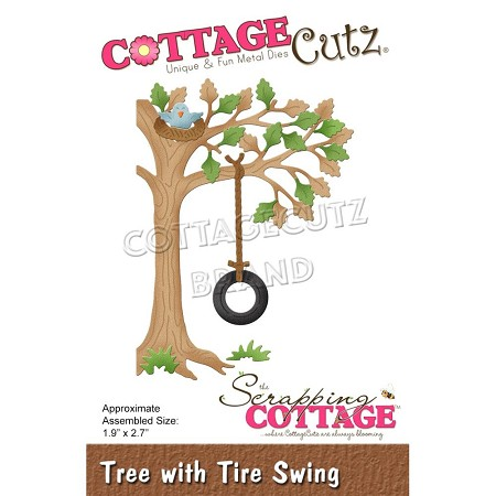 Cottage Cutz - Die - Tree w/Tire Swing