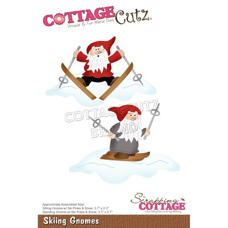Cottage Cutz - Die - Skiing Gnomes