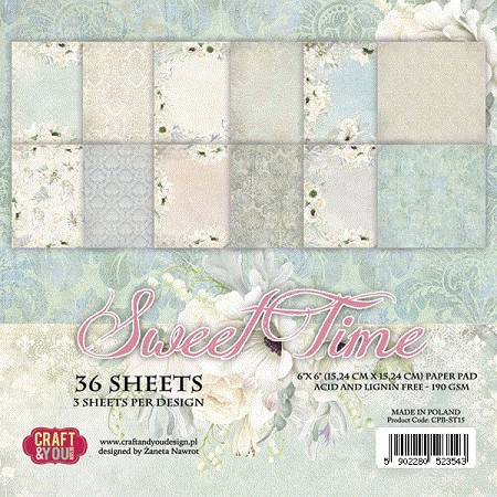 Craft & You - Sweet Time 6x6 Paper Pad