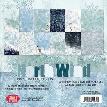 Craft & You - North Wind 12x12 collection kit