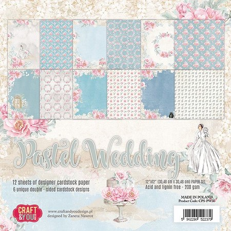 Craft & You - Pastel Wedding 12x12 collection kit