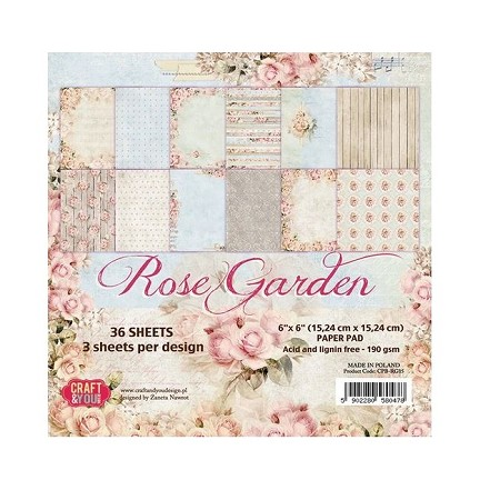 Craft & You - Rose Garden 6x6 Paper Pad