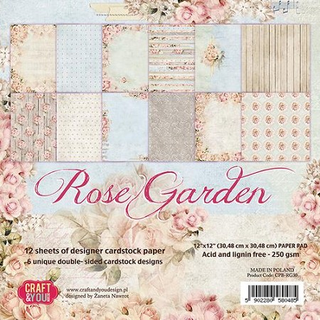 Craft & You - Rose Garden 12x12 collection kit