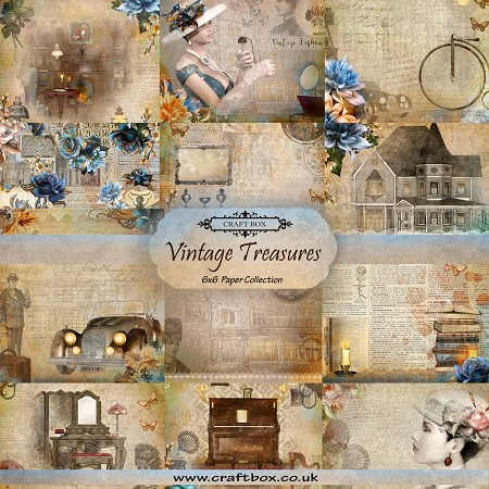 "Craft Box - Vintage Treasures Collection - 6""x6"" Paper Pad"