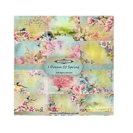 "Craft Box - I Dream Of Spring Collection - 6""x6"" Paper Pad"