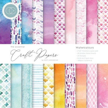 Craft Consortium - Watercolors 6x6 paper pad