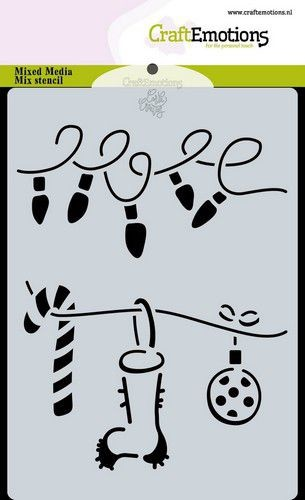 Craft Emotions - A6 Stencil - Christmas Decorations