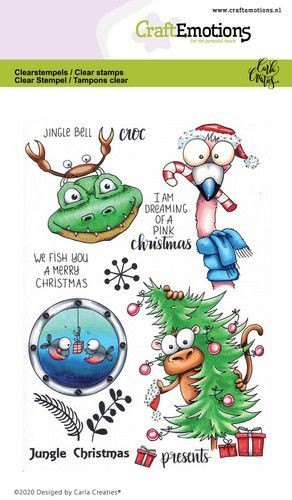Craft Emotions - clear stamp - Jungle Christmas