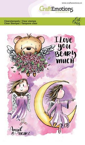 Craft Emotions - clear stamp - Angel & Bear 2
