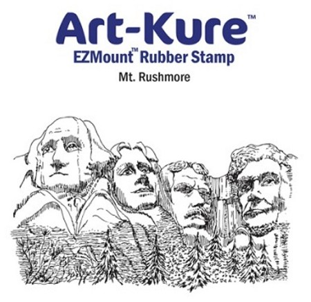 Art-Kure EZMount Stamp - by Mike Goss - US Landmarks Mt. Rushmore