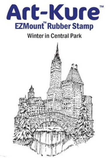 Art-Kure EZMount Stamp - by Mike Goss - US Landmarks Winter in Central Park