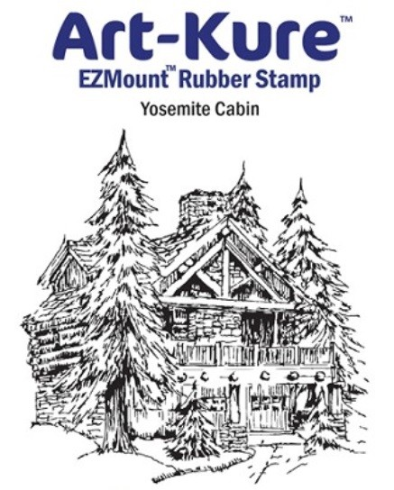 Art-Kure EZMount Stamp - by Mike Goss - US Landmarks Yosemite Cabin