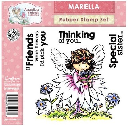 Angelica & Friends Collection - EZMount Cling Stamp Set - Mariella