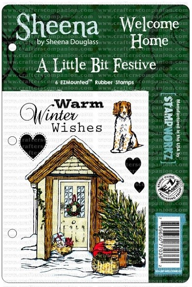 Crafter's Companion - Sheena Cling EZMount Stamp Set by Sheena Douglas - A Little Bit Festive - Welcome Home