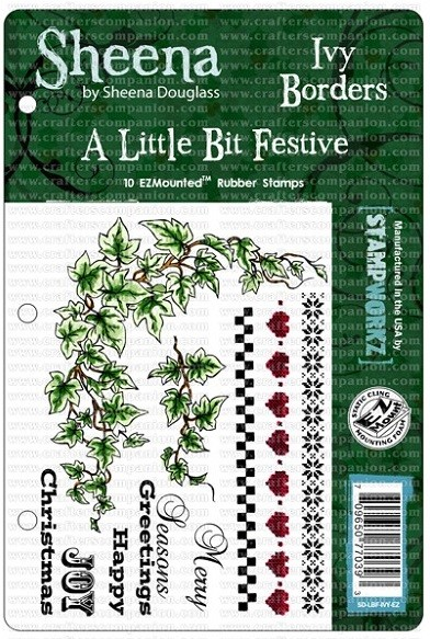 Crafter's Companion - Sheena Cling EZMount Stamp Set by Sheena Douglas - A Little Bit Festive - Ivy Borders