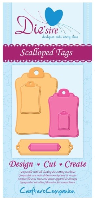 Crafter's Companion - Die'sire Decorative Dies - Scalloped Tags :)