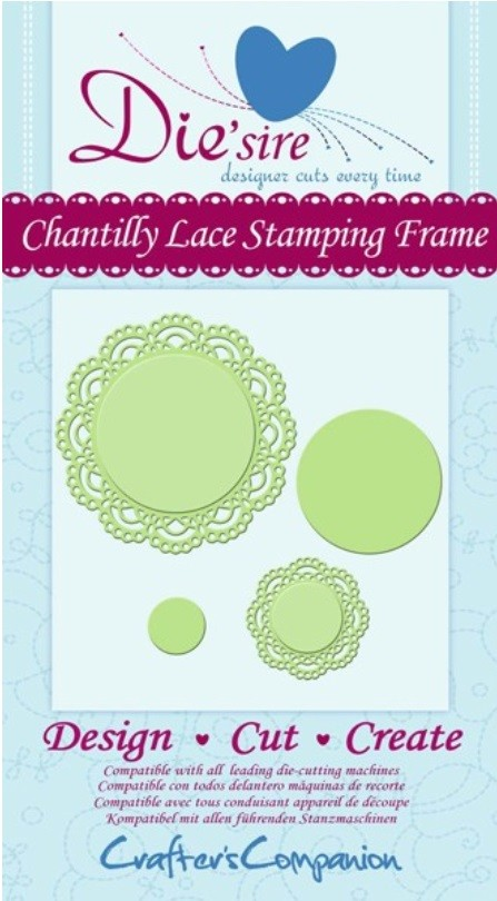 Crafter's Companion - Die'sire Decorative Dies - Chantilly Lace Stamping Frame :)