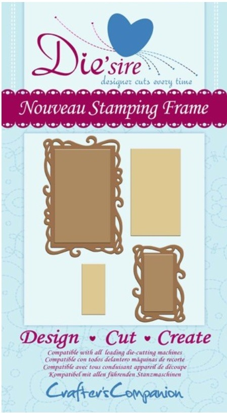 Crafter's Companion - Die'sire Decorative Dies - Nouveau Stamping Frame