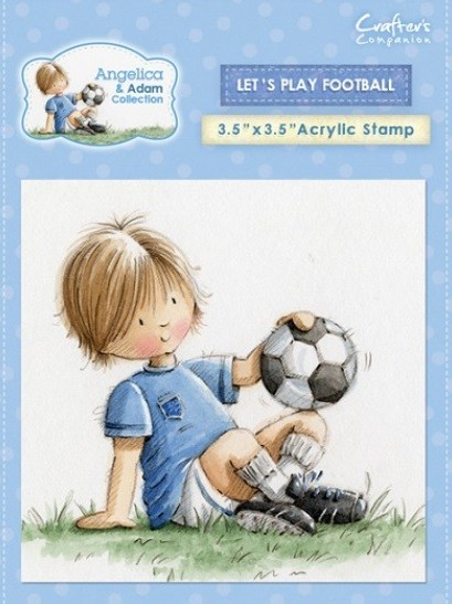 Crafter's Companion - Angelica & Adam Collection - Clear Stamp - Let's Play Football