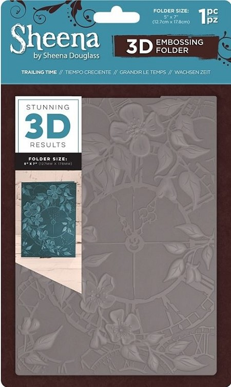 Crafter's Companion - 3D Embossing Folder by Sheena - Trailing Time