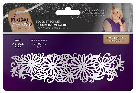 Crafter's Companion - Floral Fantasy Collection by Sara Davies - Bouquet Border Metal Die