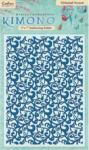 "Crafter's Companion - Kimono Collection 5""x7"" Embossing Folder - Oriental Screen"