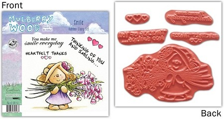 Mulberry Wood - EZ Mount Rubber Stamp Set - Smile