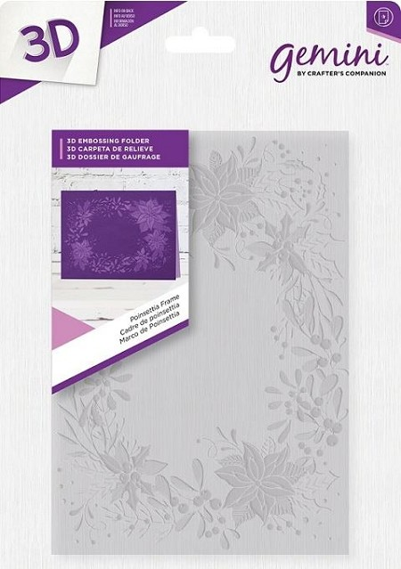 Crafter's Companion - 3D Embossing Folder Poinsettia Frame