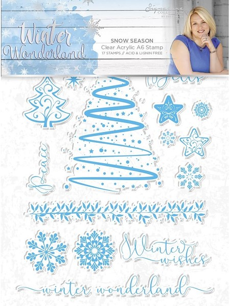 *Crafter's Companion - Winter Wonderland Collection by Sara Davies - Snow Season Clear Stamps