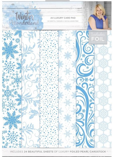 Crafter's Companion - Winter Wonderland Collection by Sara Davies - Luxury Cardstock A4 Paper Pad
