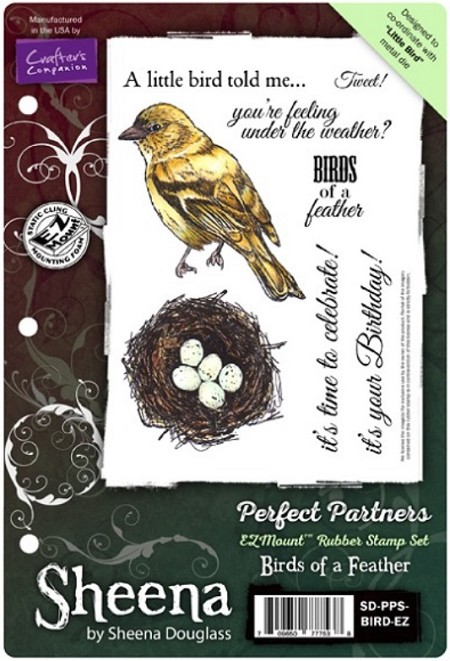Crafter's Companion - Sheena Perfect Partners EZMount Stamp Set - Birds of a Feather